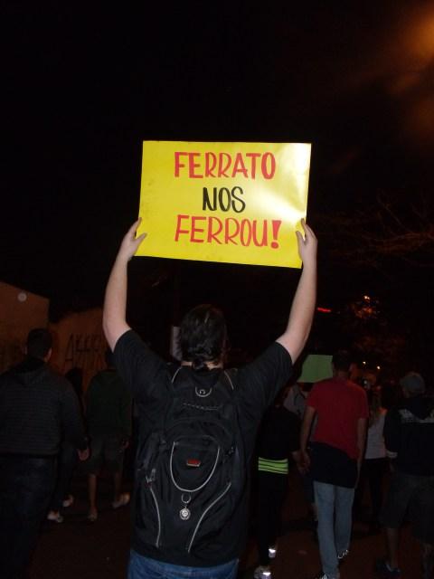 Protesto contra tarifa de ônibus