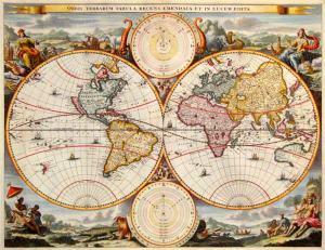 Mapa mundi old school