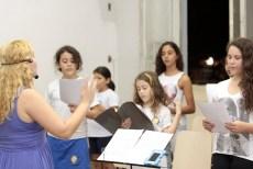 Professora Andreia Vieira no Projeto Jovens Músicos