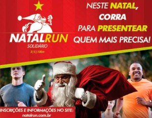 Cartaz Corrida Natal Run Solidário
