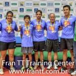 Os medalhistas do Rating pela equipe Fran TT com os tecnicos Waldemar Camargo Junior e Paulo Camargo