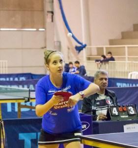 Danielle Rauen da equipe piracicabana de tenis de mesa Fran TT Training Center