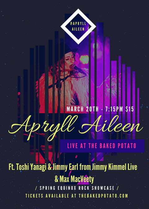 APRYLL AILEEN Live At The BAKED POTATO