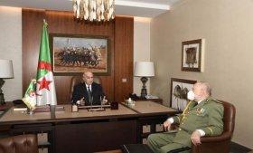 رئيس الجمهورية يعقد جلسة عمل مع رئيس أركان الجيش الوطني الشعبي