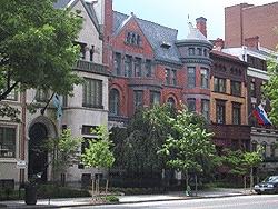 Frente de la sede de la American Political Science Association en Dupont Circle