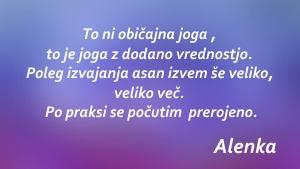 Joga priporocilo Alenka S