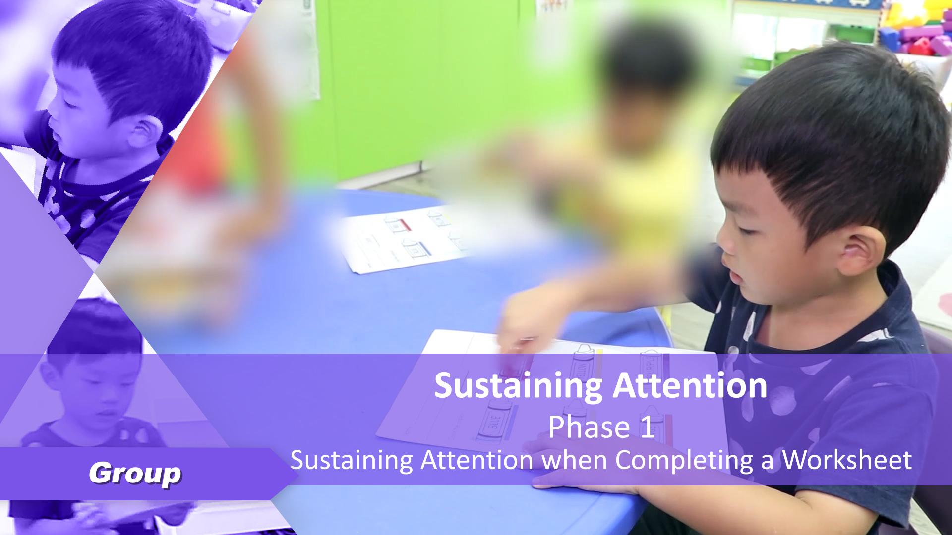Sustaining Attention Ph1 When Completing A Worksheet