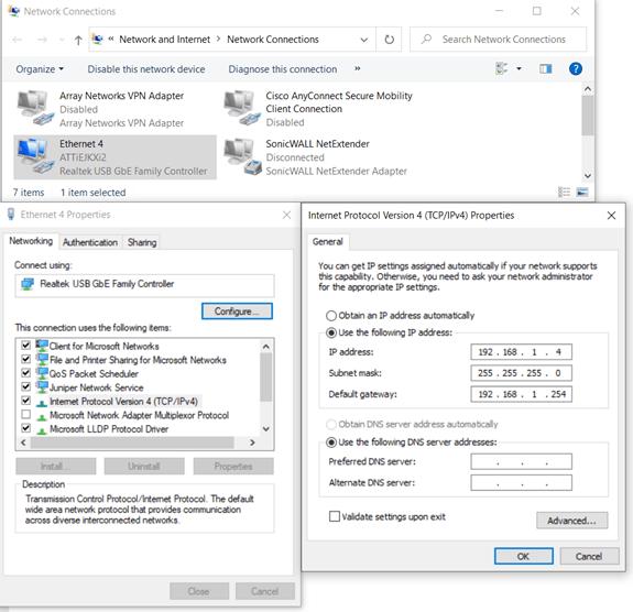 Internet Protocol Version laptop reset