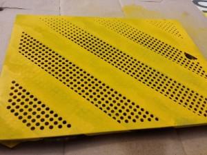 Painted yellow Microserver door