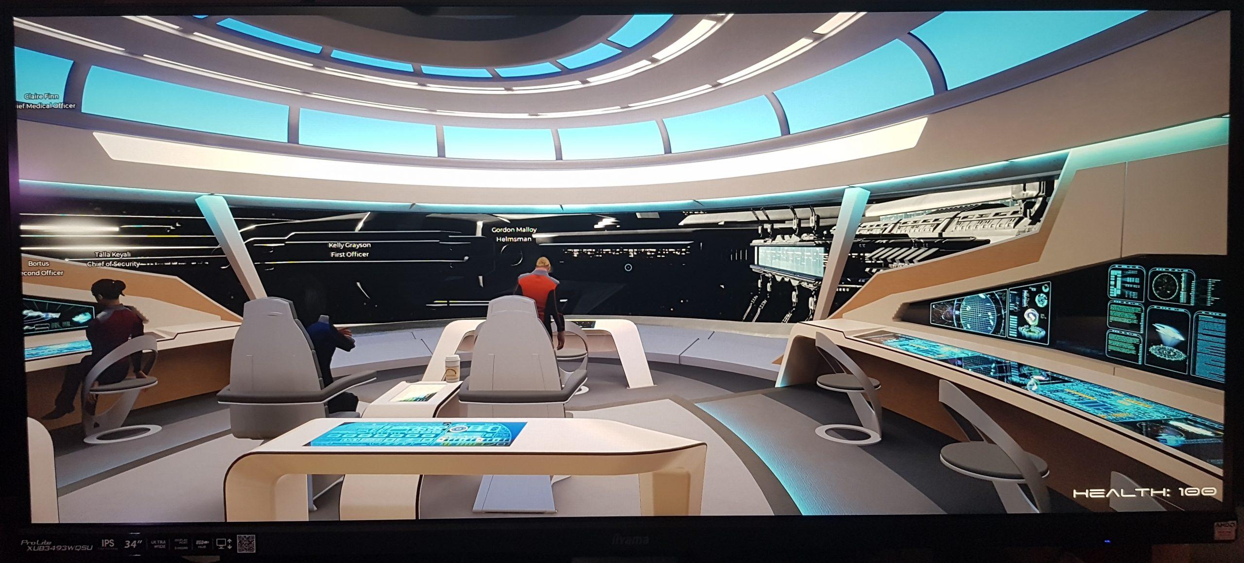Iiyama XUB3493WQSU running Orville simulator