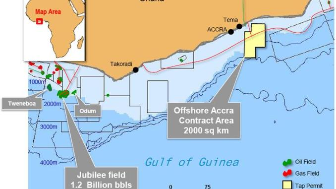 Map Ghana's Oil Fields