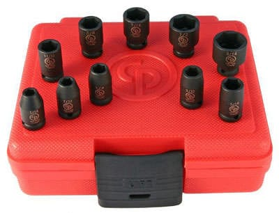 Chicago Pneumatic SS2010 Impact Socket 1/4 Drive 3/16 - 9/16'