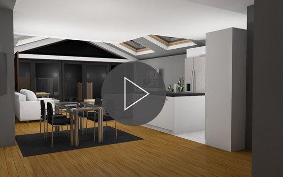 house extension 3d walk through design