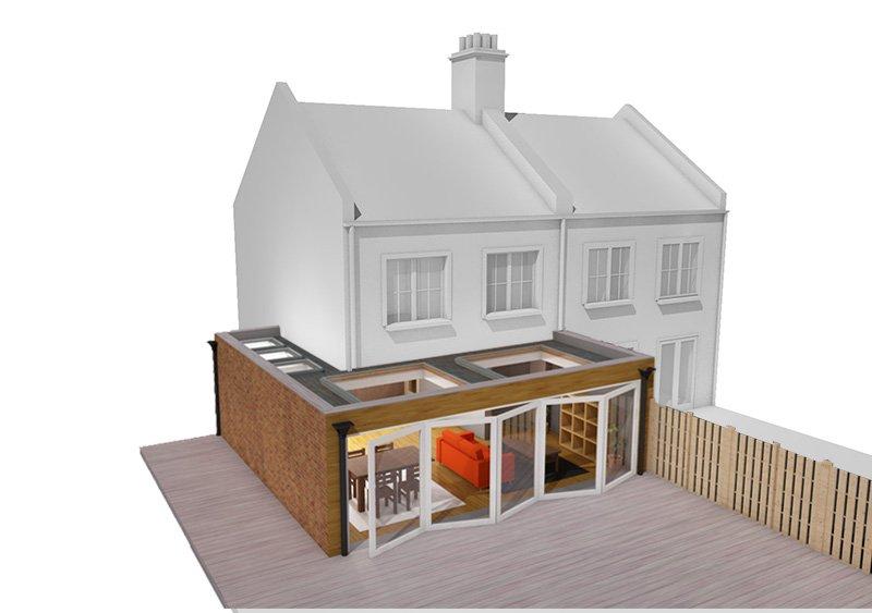 wrap around house extension