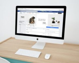 facebook page on computer