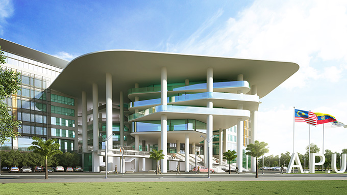 Artist impression of Asia Pacific University (APU) new ultra modern campus strategically located inside Technology Park Malaysia, Bukit Jalil, which will be ready end of 2015