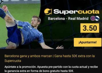 Supercuota bwin el clásico Barcelona