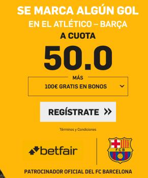 Supercuotas betfair Atlético - Barça