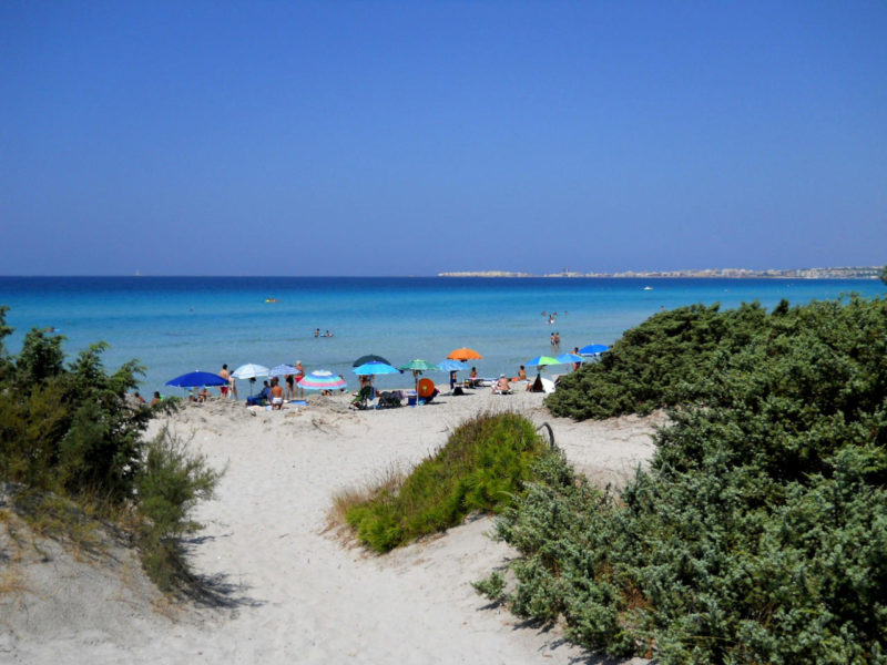 Strand Gallipoli Apulien