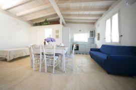 Wohnküche Ferienhaus am Meer