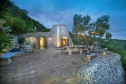 Blick auf das Ferienhaus Trullo Mirto
