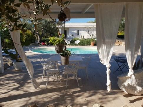 Blick auf Villa Ina