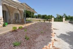 Außenbereich Apulien Ferienhaus Collina Verde