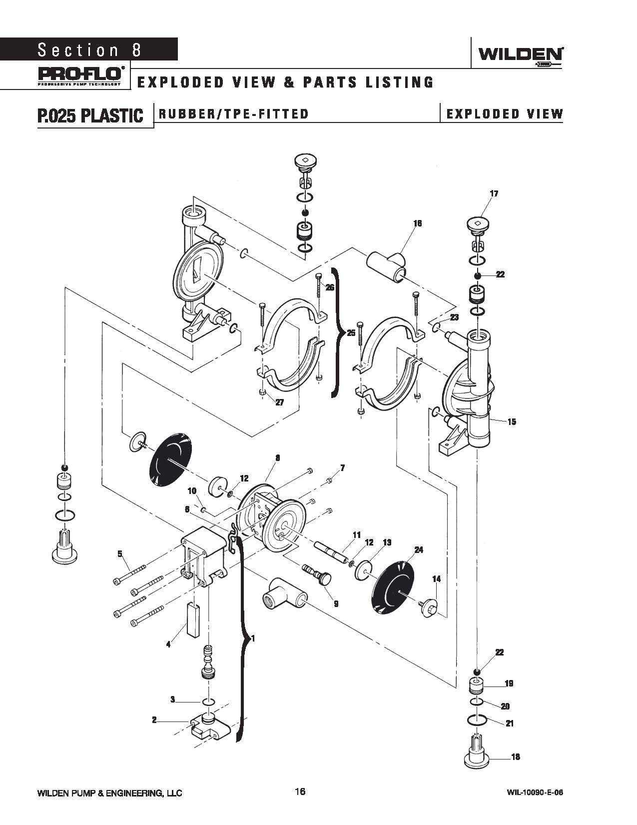 Wilden P 025 Plastic Rubber