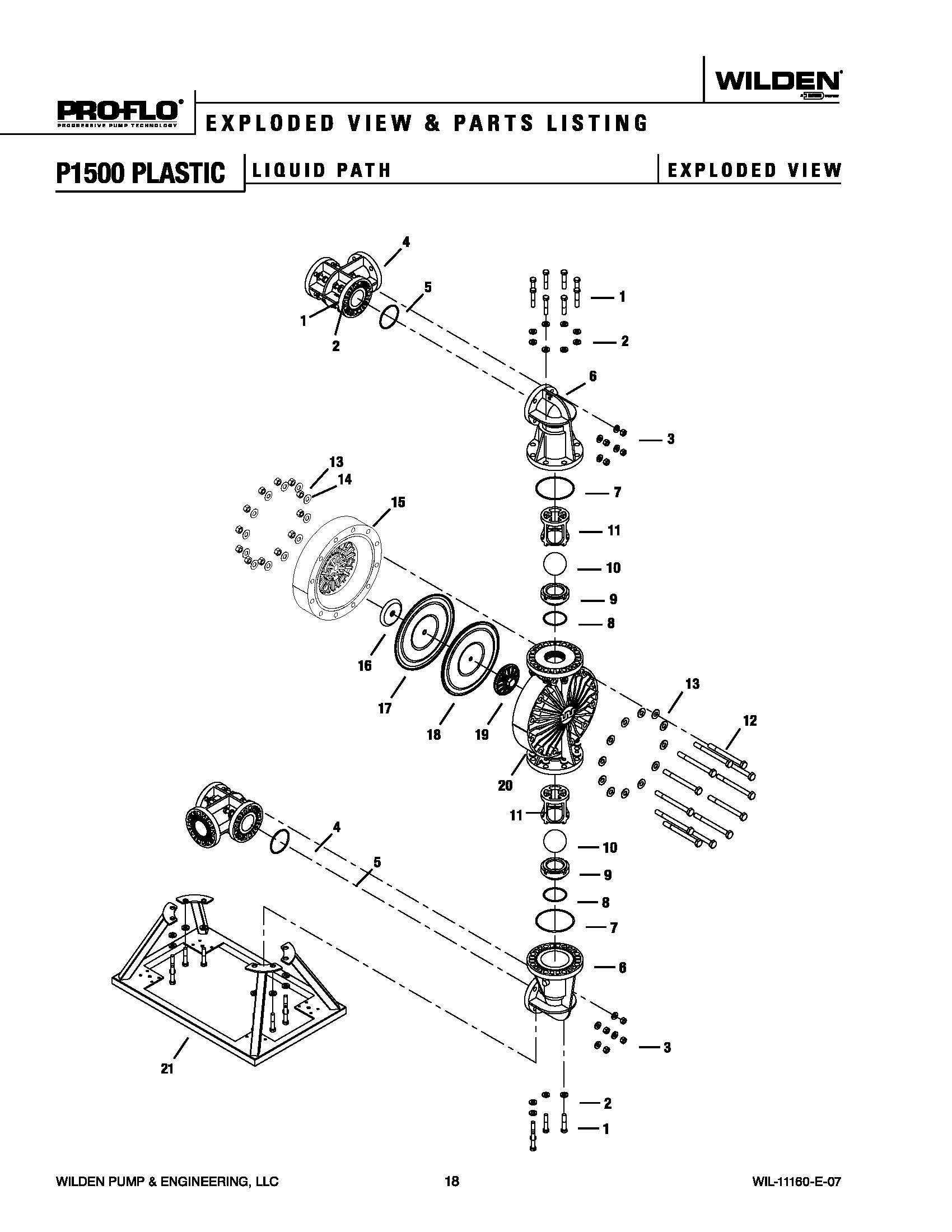 Wilden P Advanced Plastic Ptfe
