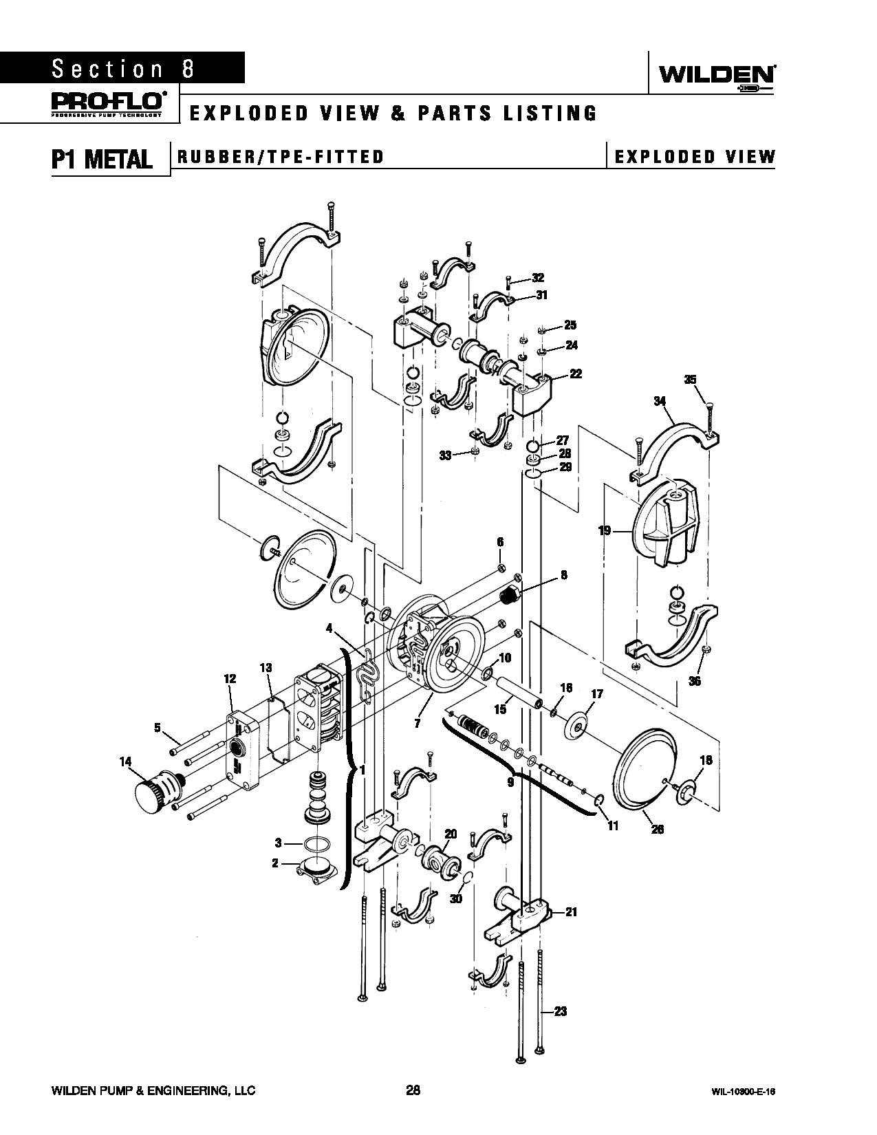 Wilden P1 Original Metal Rubber Fitted