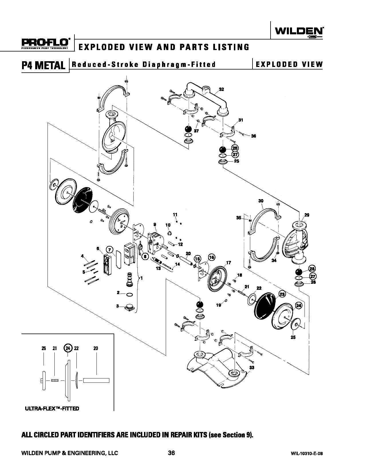 Wilden P4 Original Metal Reduced Stroke