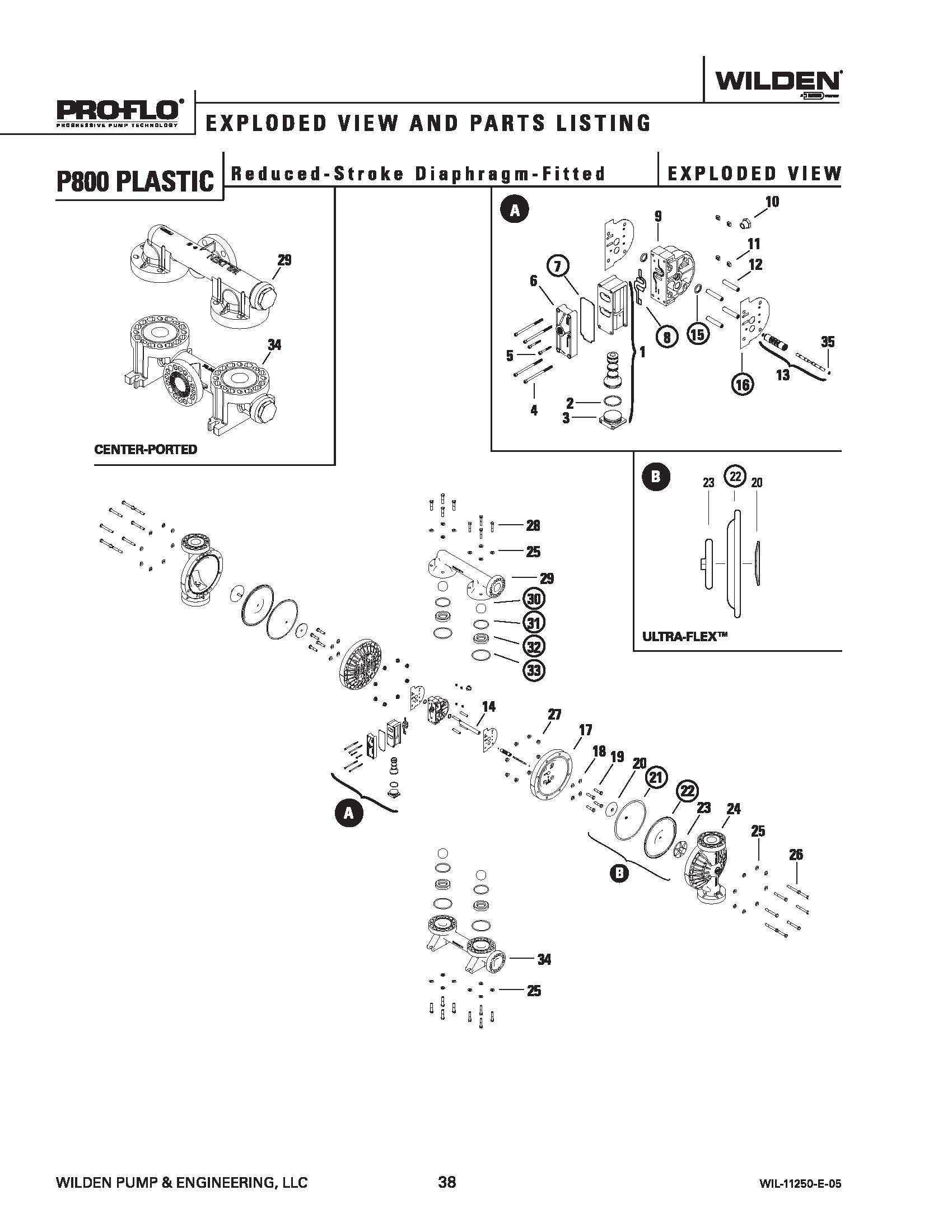 Wilden P800 Advanced Plastic Reduced Stroke