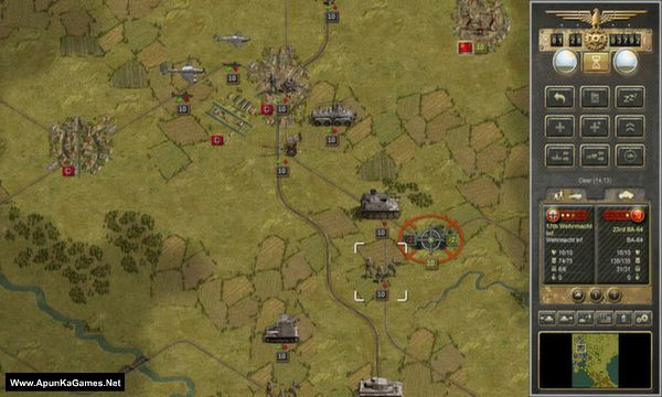 Panzer Corps: U.S. Corps Screenshot 1, Full Version, PC Game, Download Free