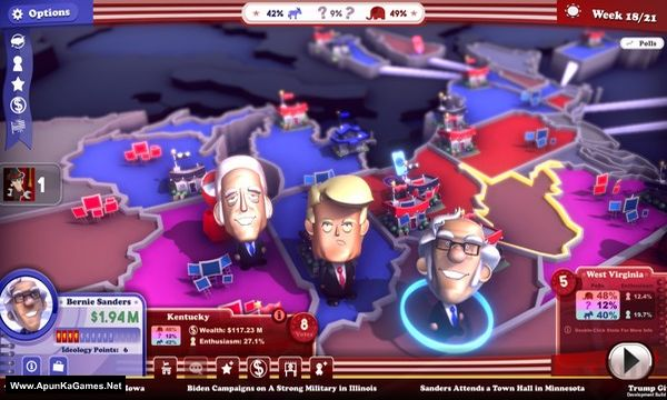 The Political Machine 2020 Screenshot 1, Full Version, PC Game, Download Free