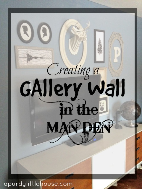 Gallery Wall in the Man Den