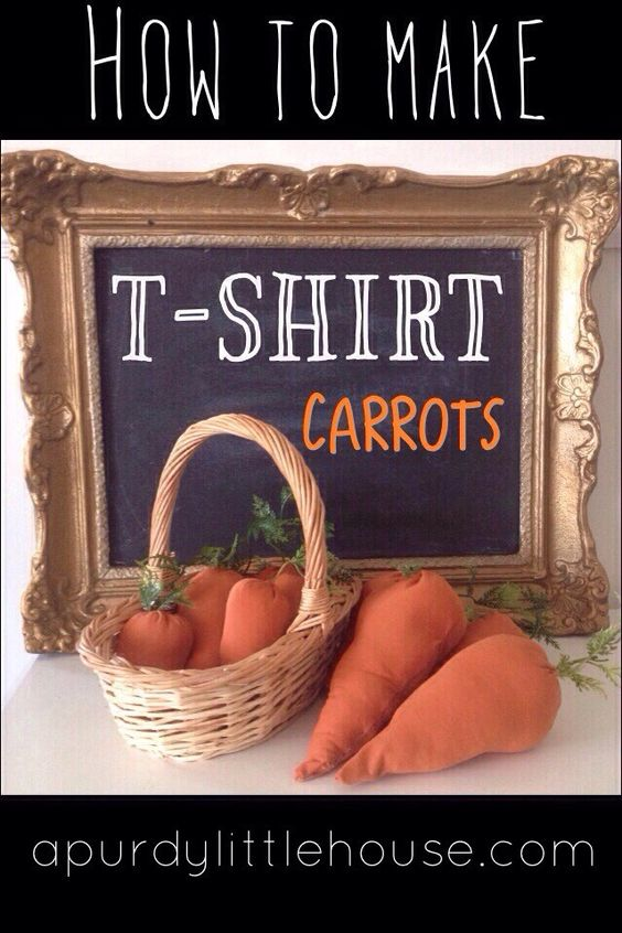 How to Make T Shirt Carrots as Easter Decor