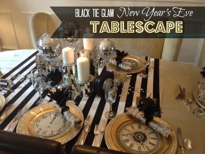 New Years Eve Tablescape
