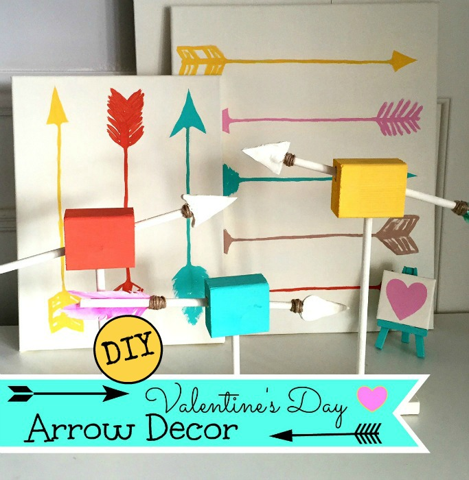 DIY Arrow Decor  Valentine's Day  Valentine's Day Decor  DIY  easy  Dollar Store  apurdylittlehouse.com 17