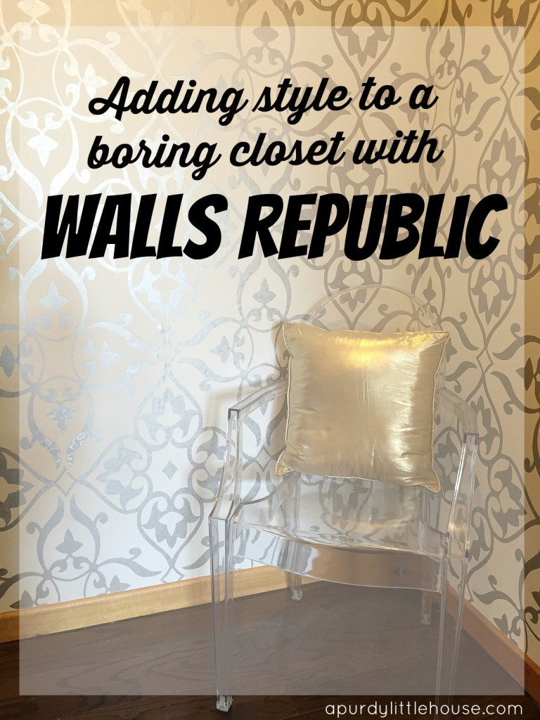 Adding Style to a Boring Closet with Walls Republic