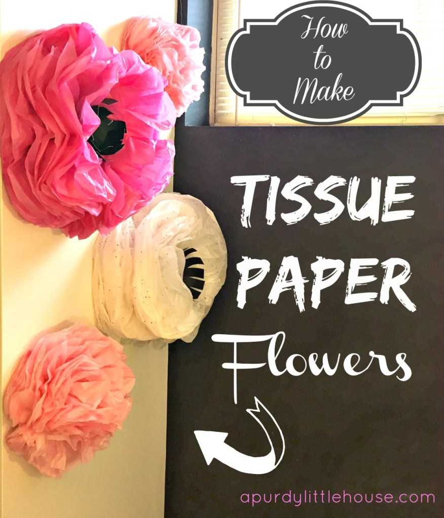 How to Make Tissue Paper Flowers the Easy Way using gift wrap tissue paper at apurdylittlehouse.com