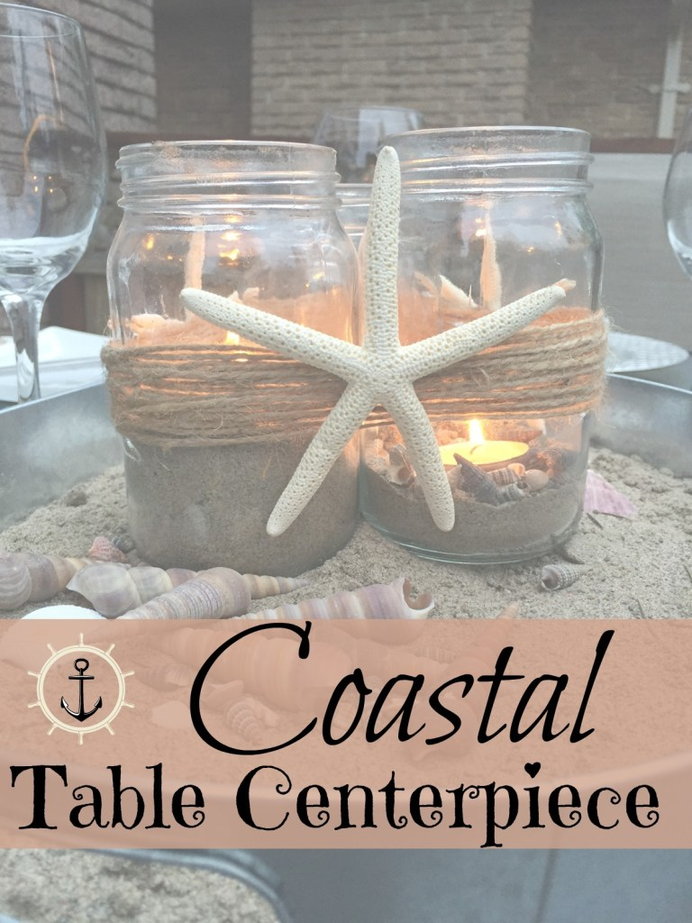 How to make an easy coastal beachy centerpiece for any occasion. I'll show you the easy steps at apurdylittlehouse.com