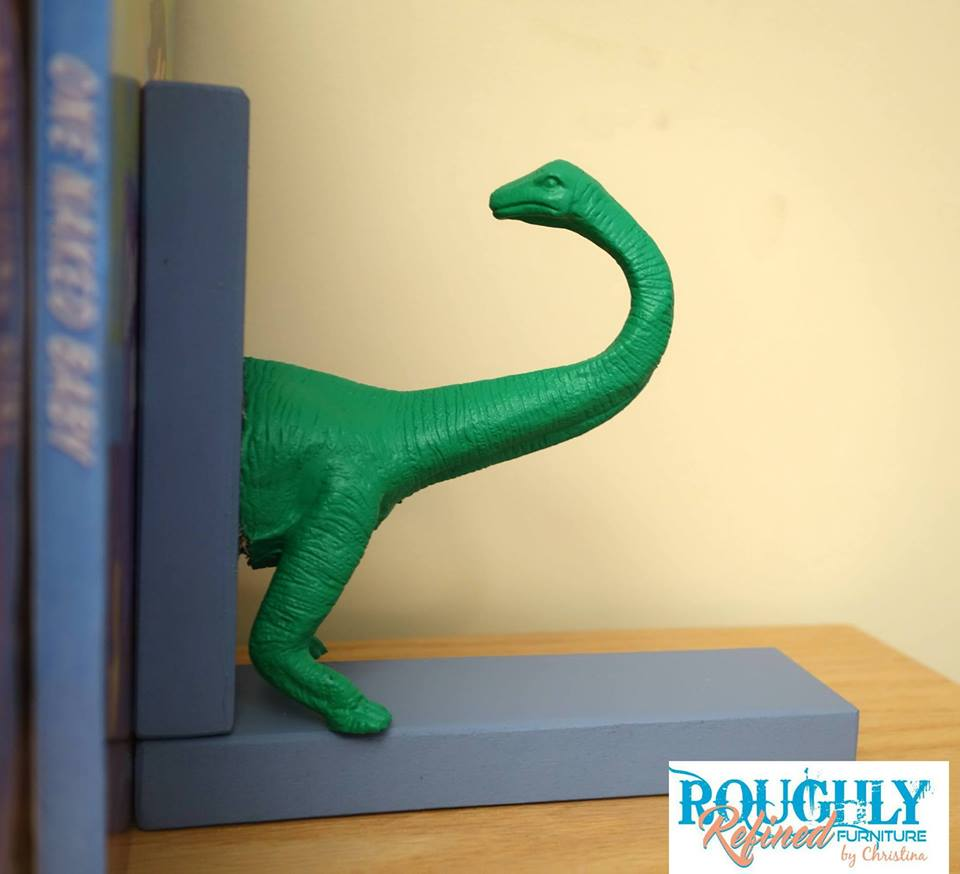 Dollar Store Flip for the #30dayflip Challenge. Watch how this dollar store dinosaur gets transformed into cute bookends for DIY kids room decor