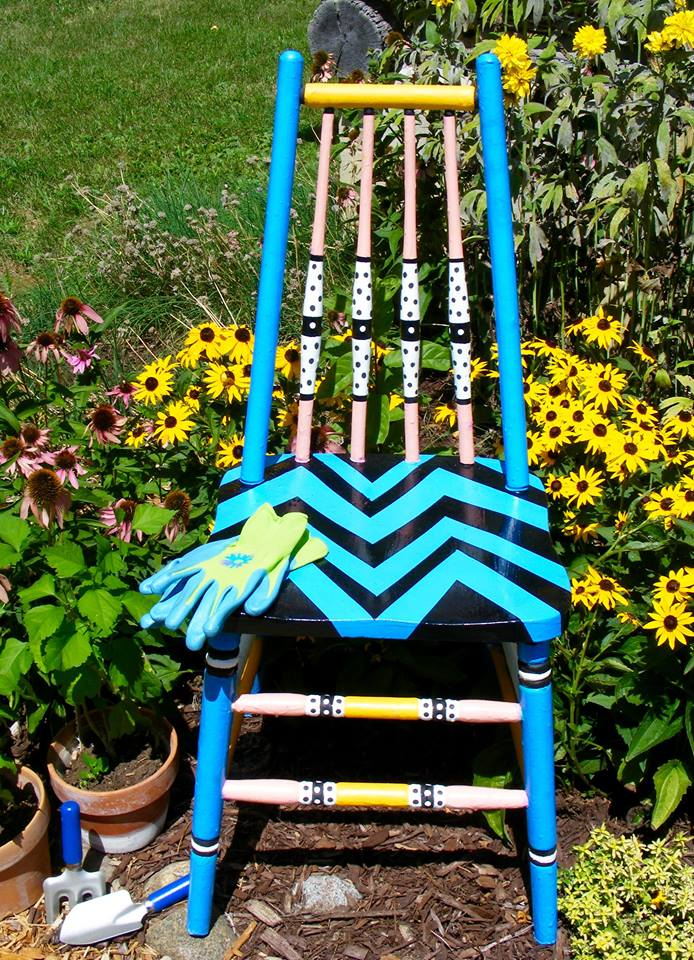 August #30dayflip Challenge to make something out of nothing using an old painter's chair