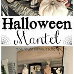 Creepy Halloween Mantel