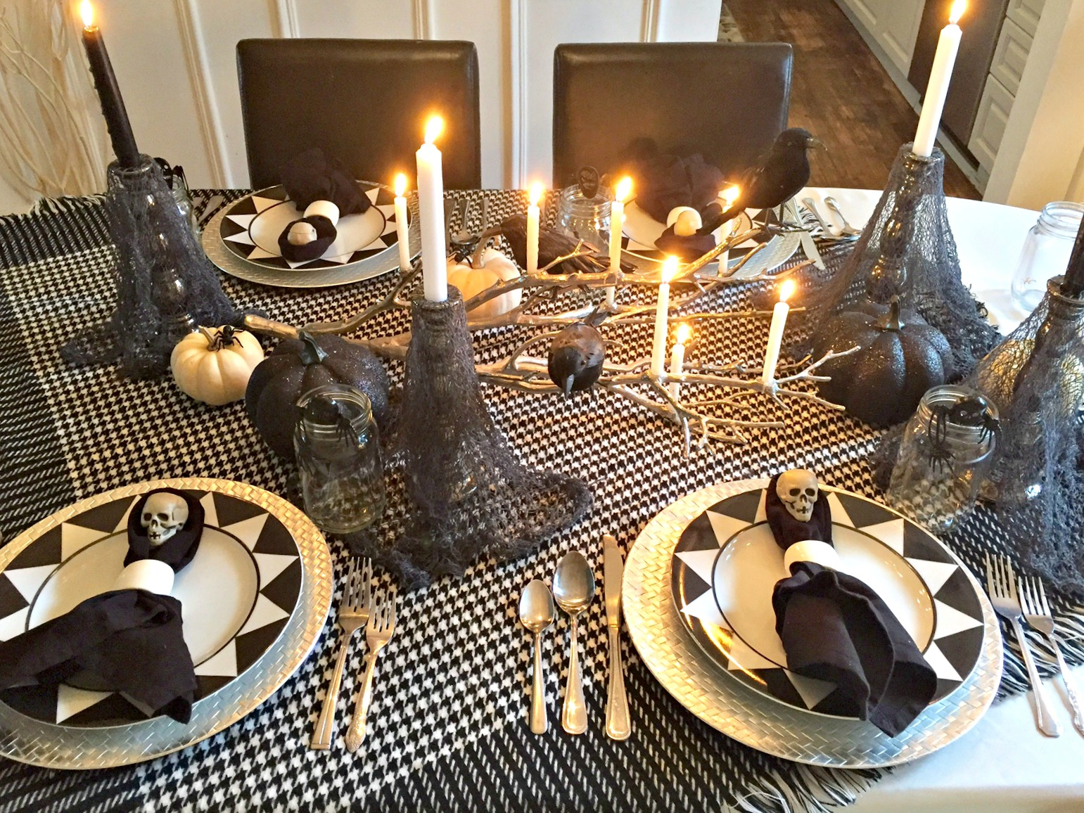 spooky halloween tablescape ideas using mostly items from the dollar store and thrift stores see - Spooky Halloween Store