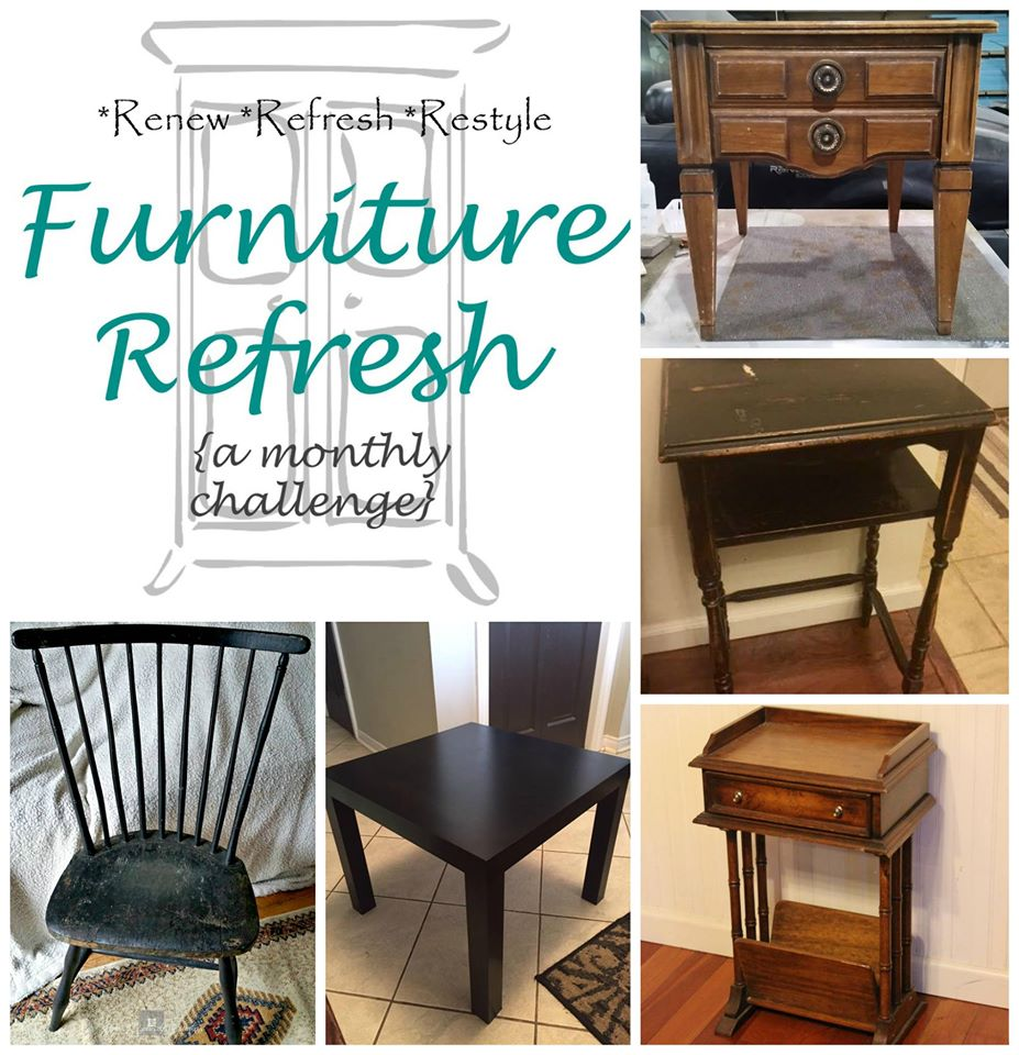 Furniture Refresh Challenge Collage