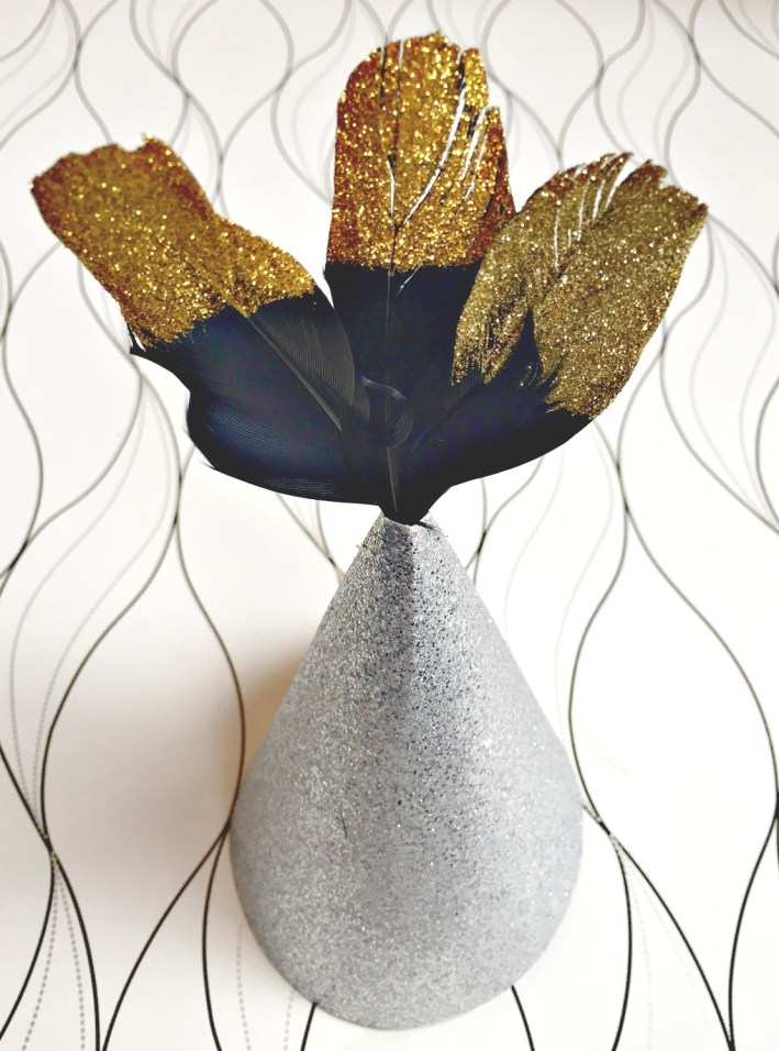 New Years Eve Party Decor. Learn how to make your own customized party hats at apurdylittlehouse.com