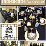 New Years Eve Tablescape and Party Hats