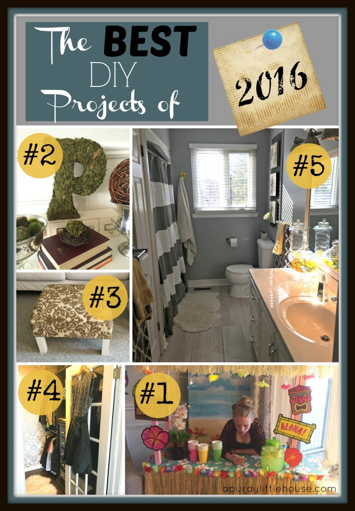 The Best DIY Projects of 2016 at apurdylittlehouse.com