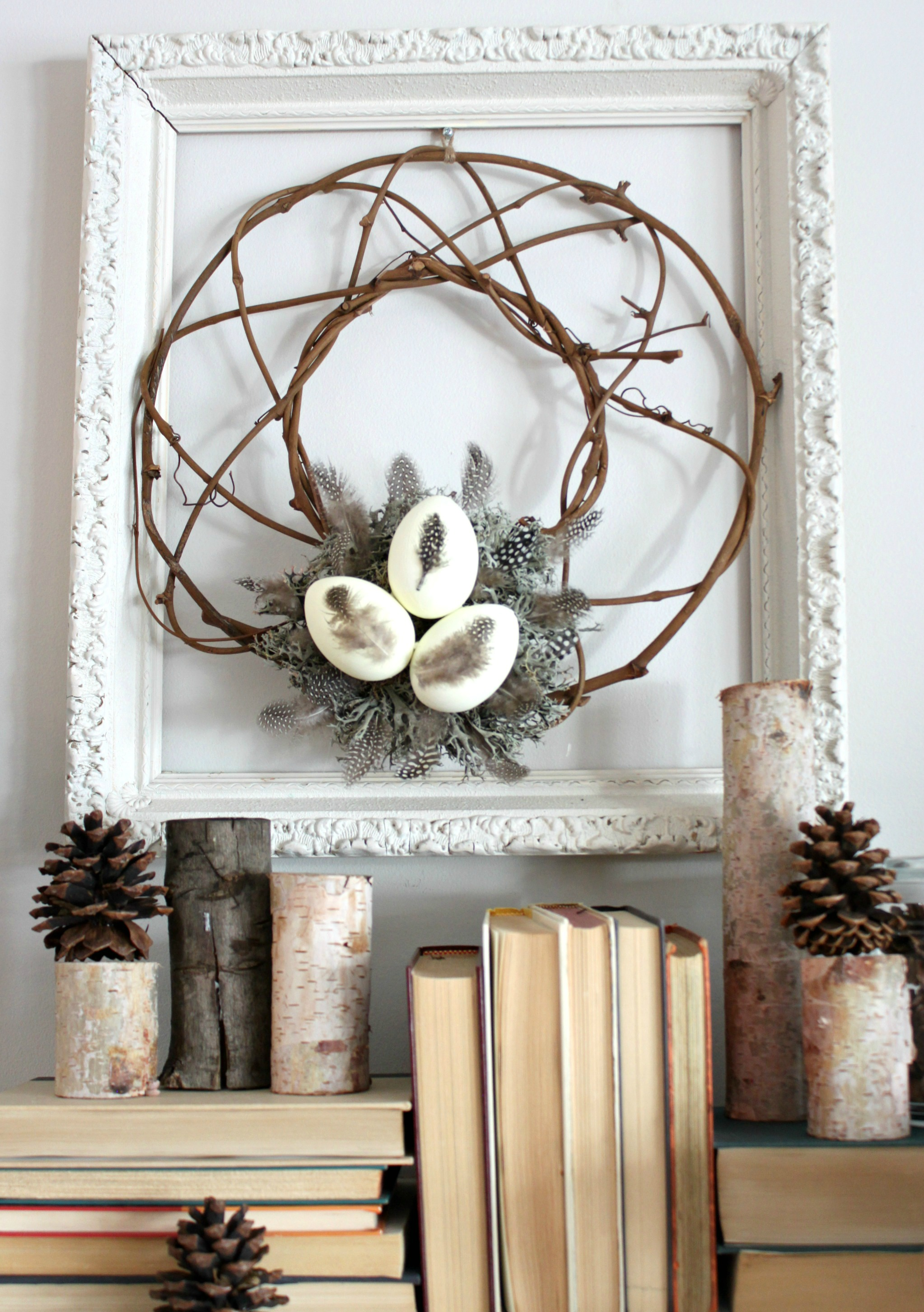 Winter Wreath. This easy DIY winter wreath was made using items from around the house.